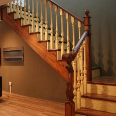 厂家直销实木楼梯扶手别墅工程实木扶手