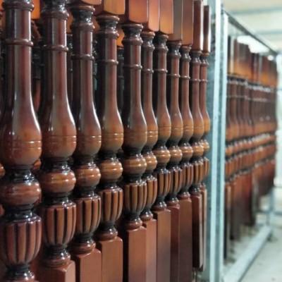 精品实木楼梯欧洲榉木美国红橡立柱批发楼梯定制实木楼梯立柱扶手