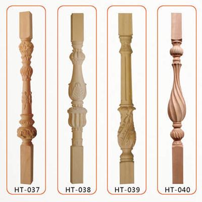 实木楼梯扶手栏杆室内实木楼梯定制欧式立柱楼梯飘窗护栏将军柱