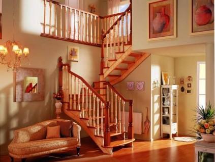 如何选择室内实木楼梯扶手木材?