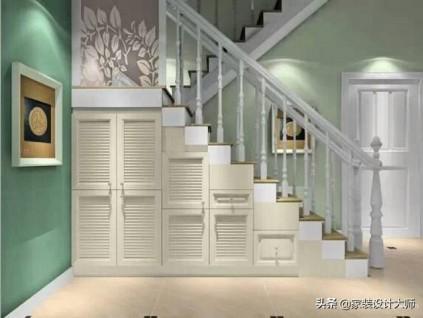 跃层楼梯这样装,轻松多出3㎡储物室,10款经典设计,实用不占地